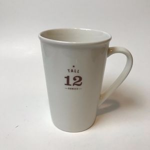"Starbucks White ""Tall"" Ceramic Mug"